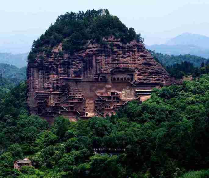 5-Maijishan Grottoes China